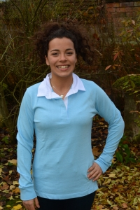 Ladies Rugby Shirt  - Sky Blue