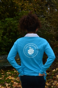 Ladies Rugby Shirt  - Surf Blue