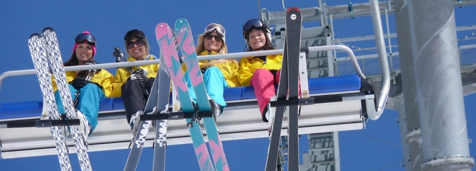 Chalet Cooks on chairlift