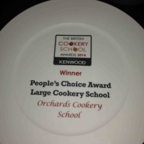 Orchards Cookery Winner Plate
