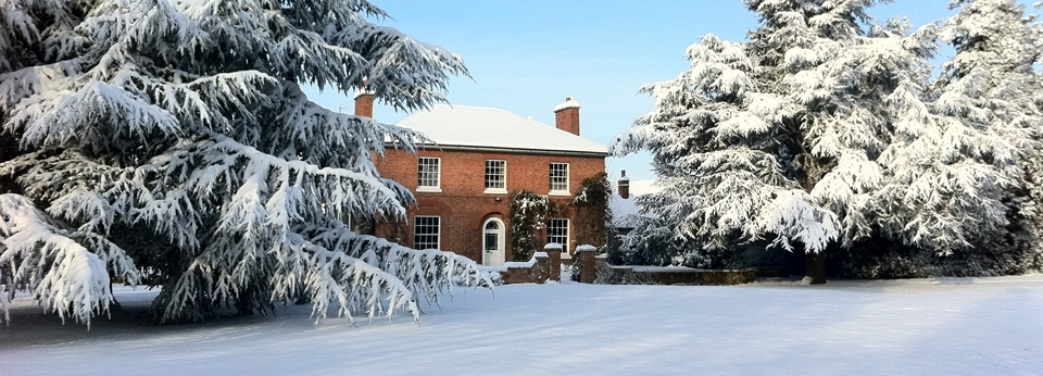 Snow at The Orchards School of Cookery